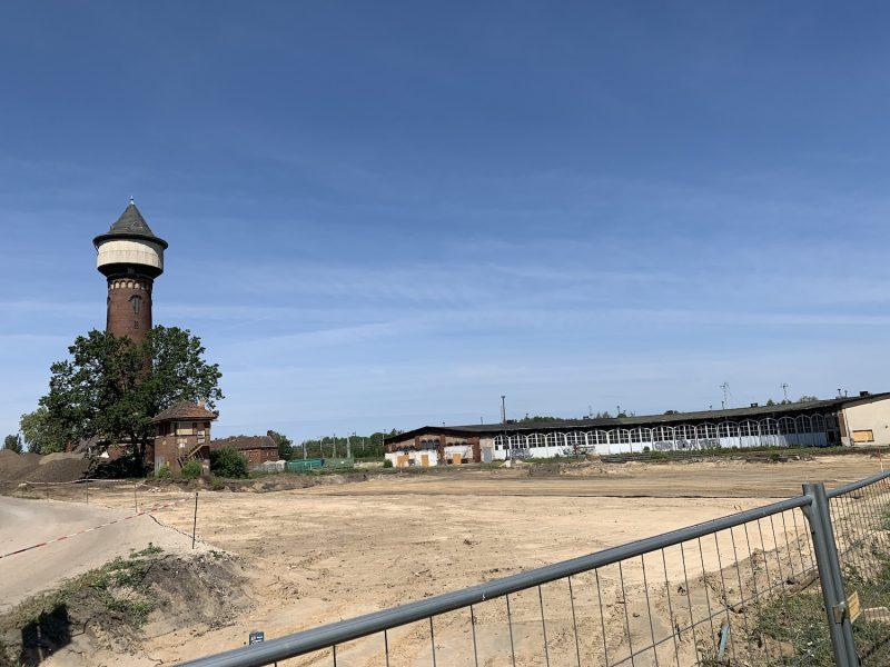 bahnhof wustermark baustelle wasserturm 2019
