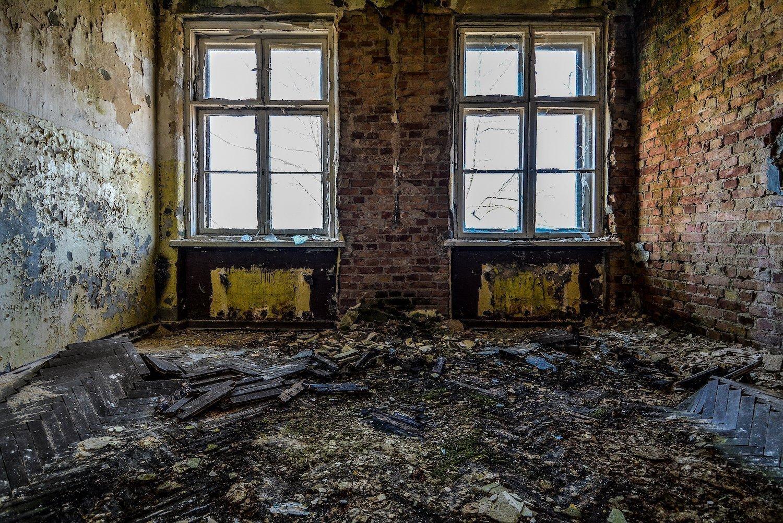 moss mold wooden floor nazi soviet military base abandoned urbex urban exploring loewen adler kaserne elstal wustermark roter stern kaserne germany lost places