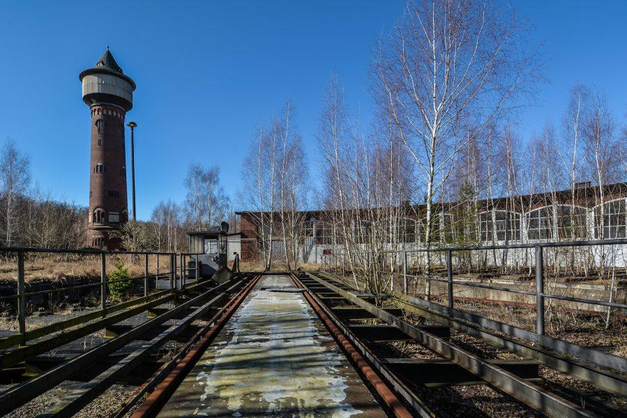 wasserturm ringlokschuppen rangierbahnhof wustermark train yard elstal berlin lost places abandoned urbex brandenburg
