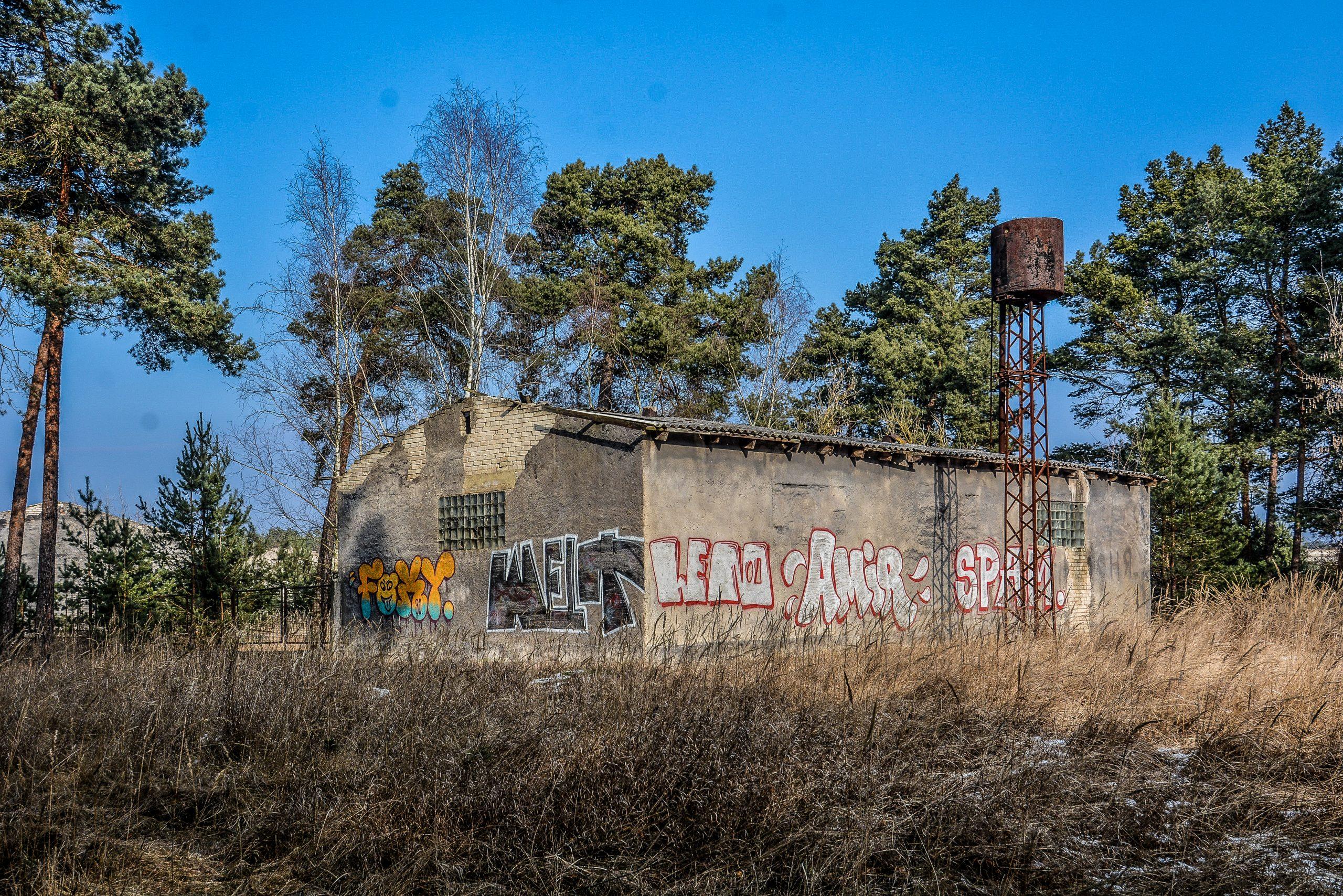 soviet supply building water tower wasserturm forst zinna adolf hitler lager luckenwalde juterbog sowjet kaserne soviet military barracks germany lost places urbex abandoned