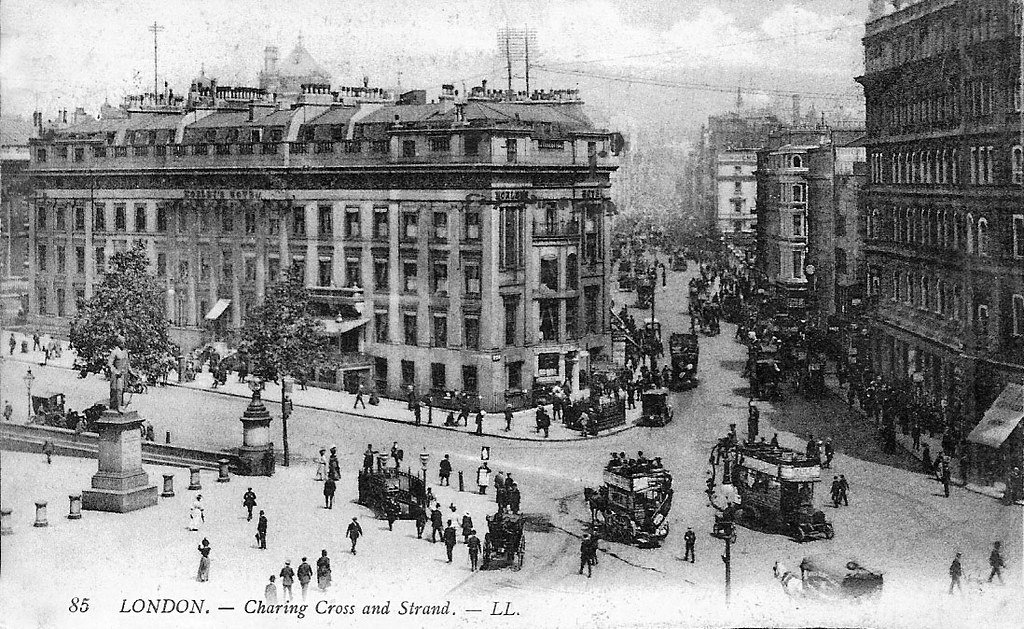 london trafalgar square 1906