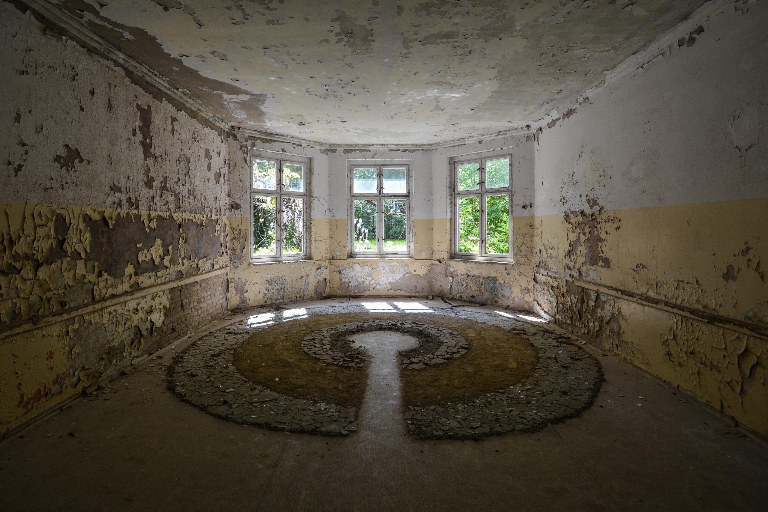 floor design tuberkulose heilstaette grabowsee sanatorium hospital oranienburg lost places abandoned urbex brandenburg germany deutschland