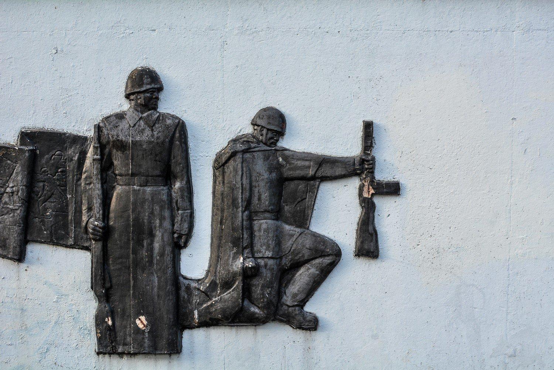 soviet soldier mural right sowjetisches ehrenmal hohenschoenhausen berlin soviet war memorial germany