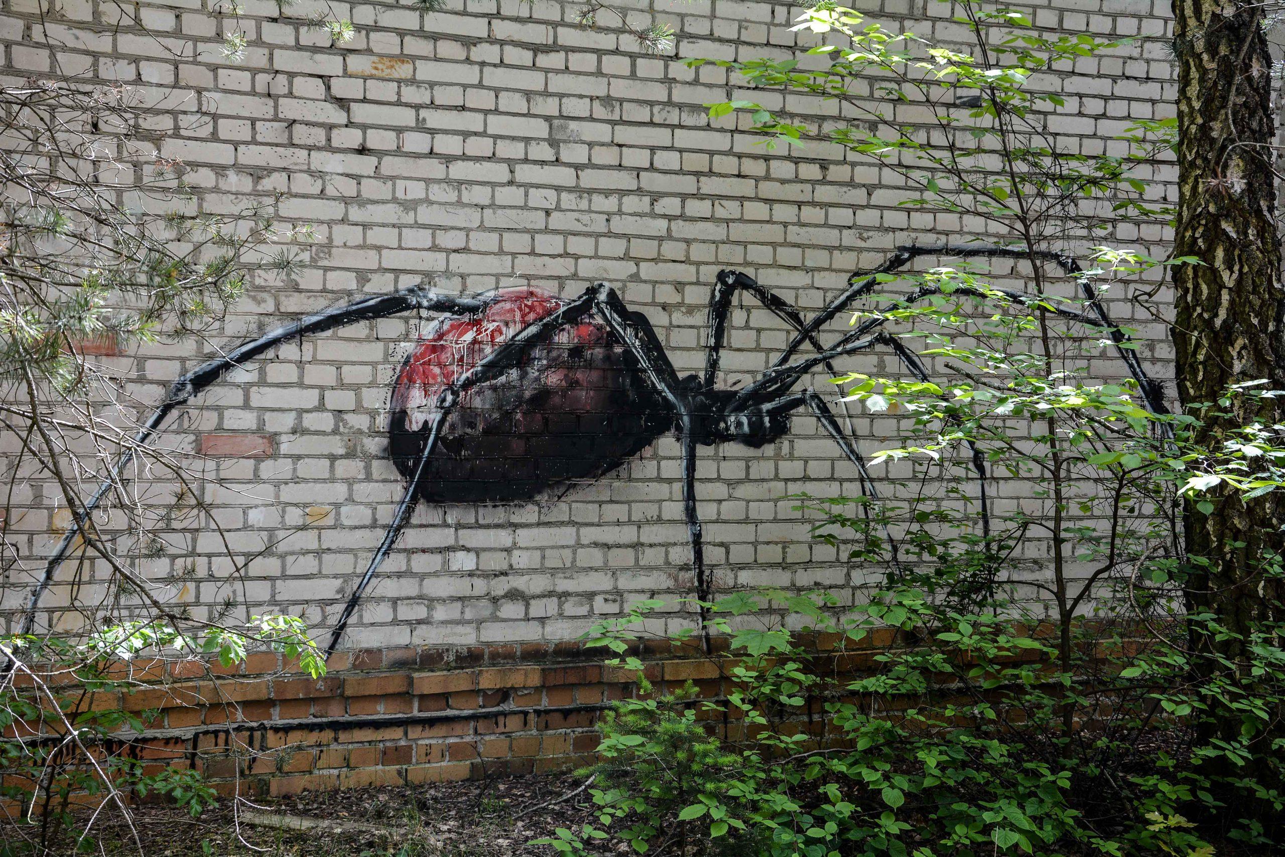 street art graffiti spider tuberkulose heilstaette grabowsee sanatorium oranienburg lost places abandoned urbex brandenburg germany deutschland
