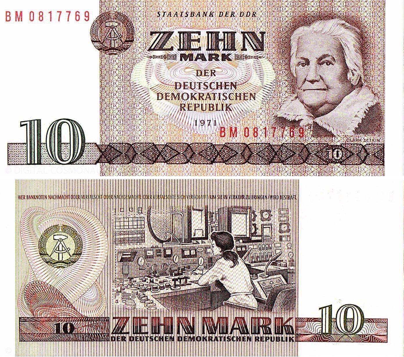10 DDR Mark schein 1971