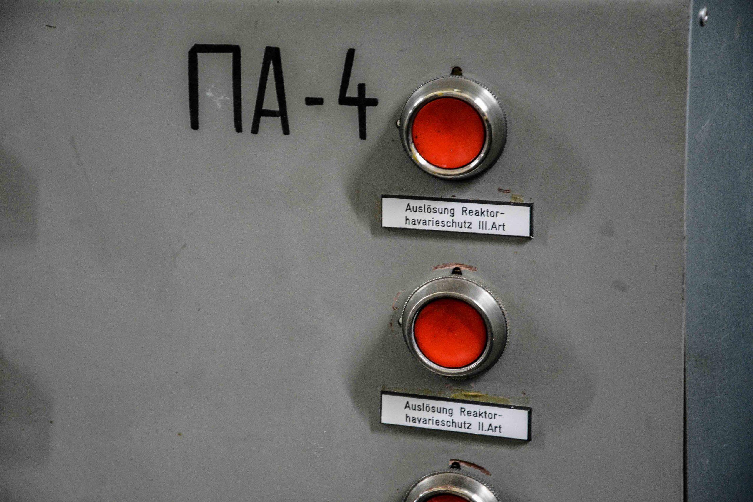 notknopf reaktor kernkraftwerk greifswald nuclear powerplant ost deutschland east germany gdr DDR mecklenburg vorpommern
