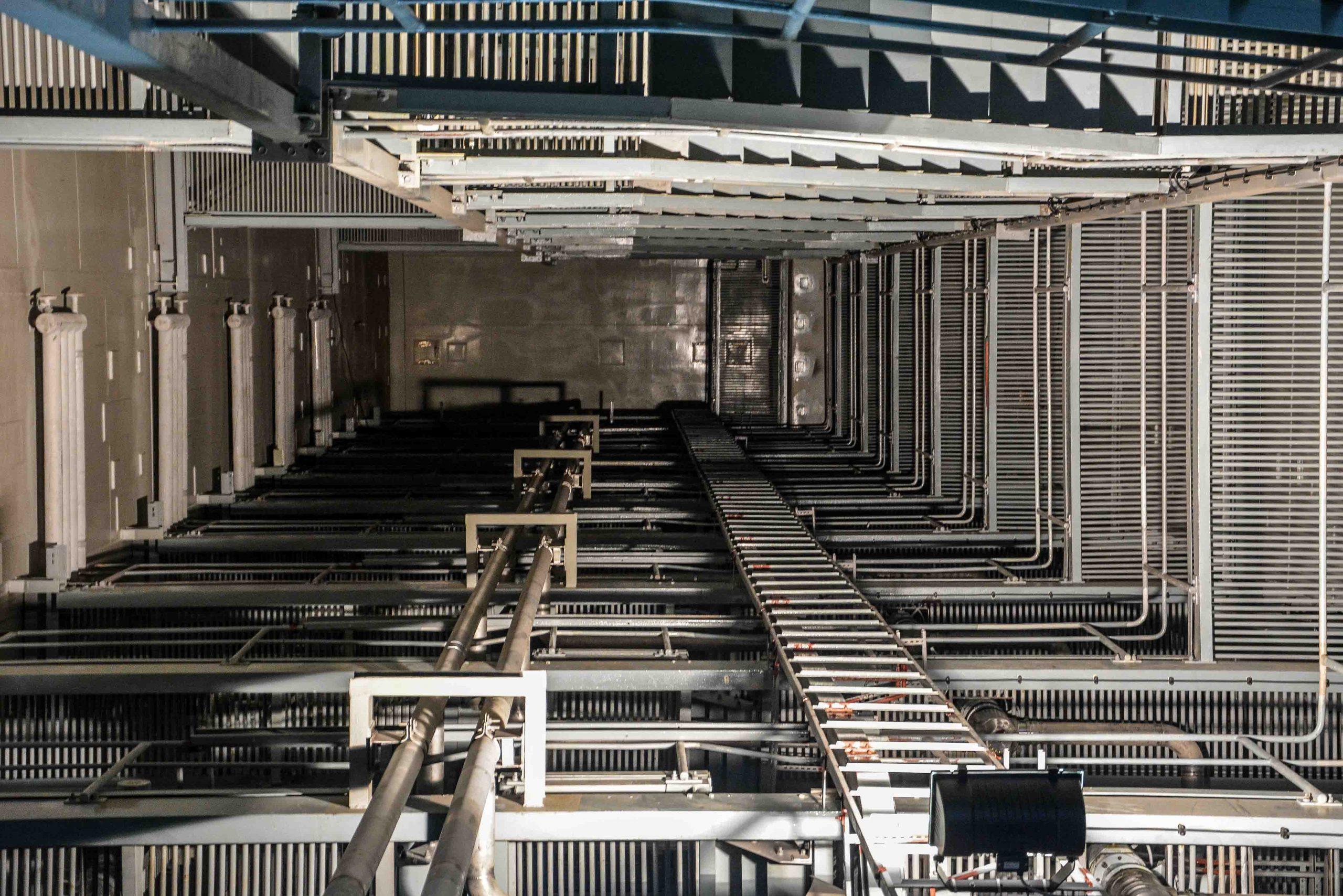 reaktor gebaeude innen ansicht treppen kernkraftwerk greifswald nuclear powerplant ost deutschland east germany gdr DDR mecklenburg vorpommern