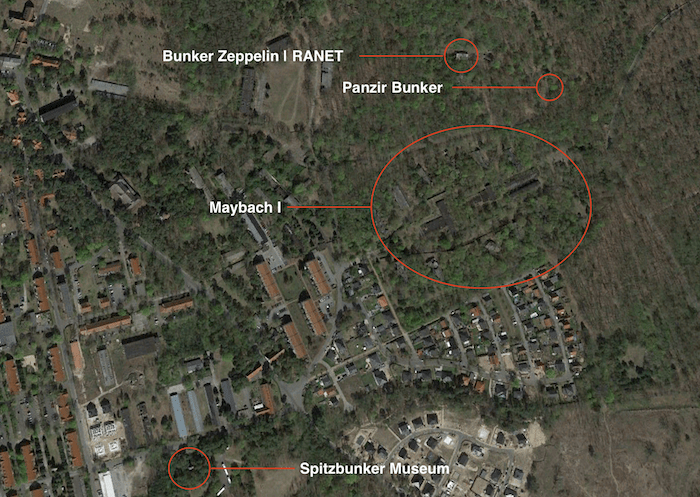 bunker zeppelin wuensdorf karte location map