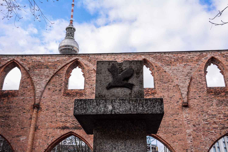 Chernobyl Memorial Berlin Mitte tschernobyl denkmal berlin mitte ruinde der franziskaner klosterkirche fernsehturm
