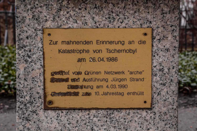 Chernobyl Memorial Berlin Mitte tschernobyl denkmal berlin mitte ruinde der franziskaner klosterkirche inschrift