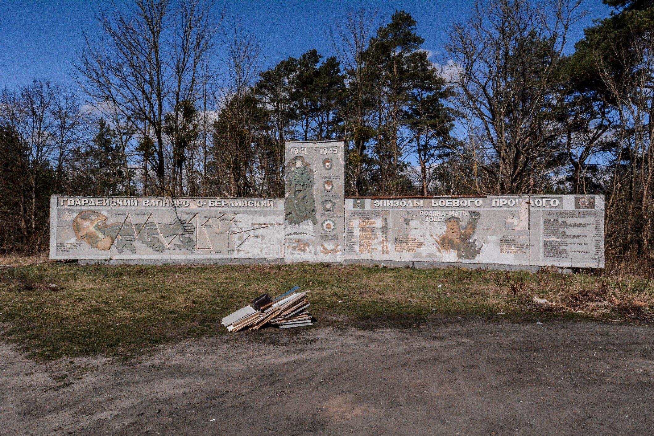 panorama full view soviet war memorial sowjetisches ehrenmal fuerstenberg droegen brandenburg deutschland lost places urbex abandoned