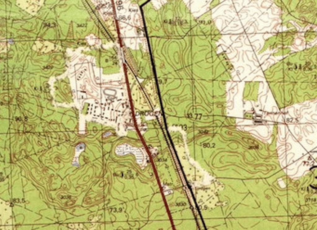 Drögen Fürstenberg Militär karte DDR